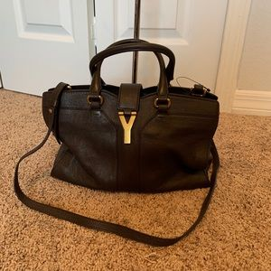 YSL Cabas DarkBrown ChYC small